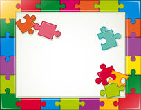Jigsaw frame Royalty Free Stock Photos