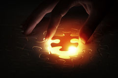 Jigsaw game Royalty Free Stock Photography