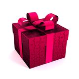 Jigsaw gift_red Stock Photos