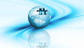 Jigsaw globe Royalty Free Stock Image