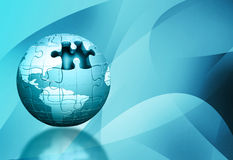 Jigsaw globe Royalty Free Stock Images