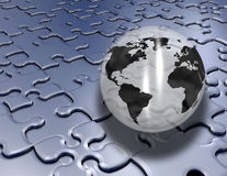 Jigsaw globe Stock Photo