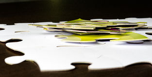 Jigsaw. Group of jigsaw puzzles, Concept for problem solving Royalty Free Stock Photo