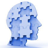 Jigsaw Head Represents Plans Person And Piece Stock Image