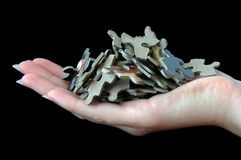 Jigsaw Heap Stock Photography