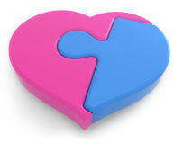 Jigsaw heart Stock Photos