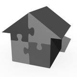 Jigsaw House Royalty Free Stock Photos