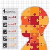 Jigsaw Human Symbol, Vector Work Royalty Free Stock Photos