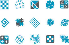 Jigsaw Icon Set Royalty Free Stock Image