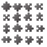 Jigsaw Icons Royalty Free Stock Photography