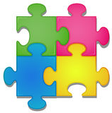 Jigsaw. Illustration of colorful pieces of jigsaw royalty free illustration
