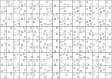 Jigsaw. Isolated puzzle pattern with 204 pieces Royalty Free Stock Images