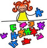 Jigsaw kid Royalty Free Stock Photography