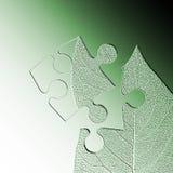 jigsaw liści abstrakcyjne Zdjęcia Stock