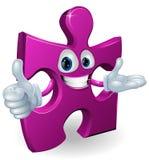 Jigsaw mascot. Illustration of a cute jigsaw cartoon mascot Royalty Free Stock Photo