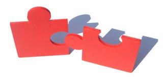 Jigsaw metaphor mixed Royalty Free Stock Photos