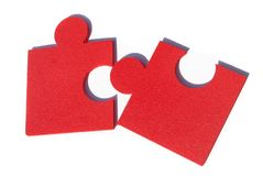 Jigsaw metaphor mixed Royalty Free Stock Photo