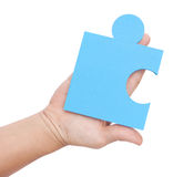 Jigsaw metaphor mixed Stock Photo