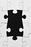Jigsaw with missing pieces Royalty Free Stock Images