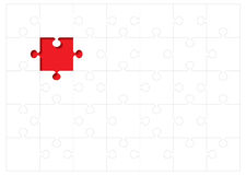 Jigsaw outline concept Royalty Free Stock Images