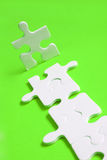 Jigsaw Path. Jigsaw man with piece path Royalty Free Stock Images