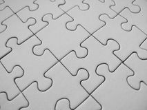 Jigsaw pattern. White jigsaw pattern stock illustration