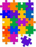 Jigsaw Pattern Background Design royalty free stock images