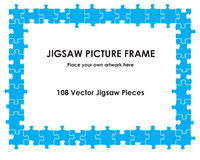 Jigsaw picture frame Stock Images