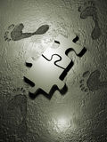 Jigsaw piece Stock Photography