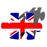 Jigsaw piece. With union jack flag overlay Royalty Free Stock Photo