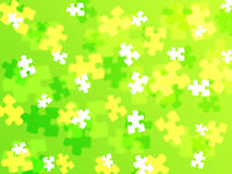 Jigsaw piece background Stock Images
