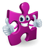 Jigsaw piece cartooon man Royalty Free Stock Photos