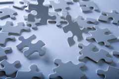 Jigsaw Piece with Dramatic Light Royalty Free Stock Photo