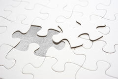 Jigsaw piece fill in blank, conceptual image Royalty Free Stock Image