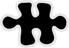 Jigsaw Piece Icon. Jigsaw puzzle piece - icon graphic Stock Image