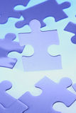 Jigsaw pieces. A jigsaw puzzle makes a good metaphor for any problem to solve Stock Images