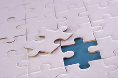 Jigsaw pieces. A jigsaw puzzle makes a good metaphor for any problem to solve Stock Photography