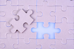 Jigsaw pieces. A jigsaw puzzle makes a good metaphor for any problem to solve Royalty Free Stock Photography