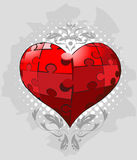 Jigsaw pieces heart Vector Royalty Free Stock Photos
