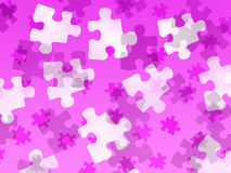 Jigsaw pieces on a pink gradient Royalty Free Stock Photography
