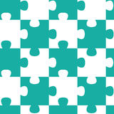 Jigsaw pieces seamless pattern Stock Photos