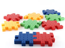 Jigsaw plastic Stock Photography