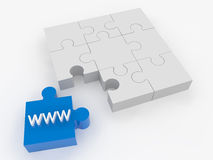 Jigsaw Puzzle. Concept - missing piece is the internet Royalty Free Stock Photography