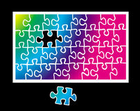 Jigsaw puzzle. Fit in the missing piece to complete the concept Royalty Free Stock Images
