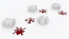 Jigsaw puzzle. 3d render of Beautiful Jigsaw puzzle Royalty Free Stock Image