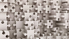 Jigsaw puzzle. 3d render of Beautiful Jigsaw puzzle Royalty Free Stock Images