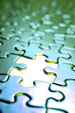 Jigsaw puzzle. Stock Photo