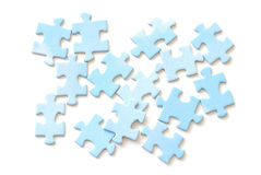 Jigsaw puzzle. Pieces on white background Royalty Free Stock Image