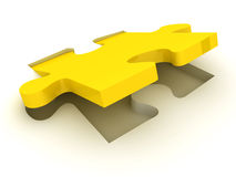 Jigsaw Puzzle. This is a 3D rendered picture Stock Photography