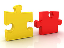 Jigsaw Puzzle. This is a 3D rendered picture Stock Photo